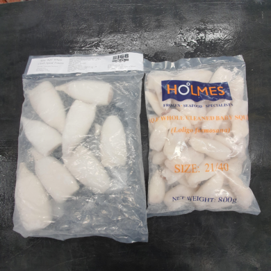 Squid Tubes Cleaned & Tentacles 1kg FROZEN