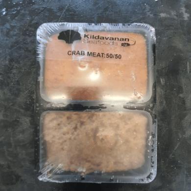 Crab Meat 50% White 50% Brown 454g FROZEN