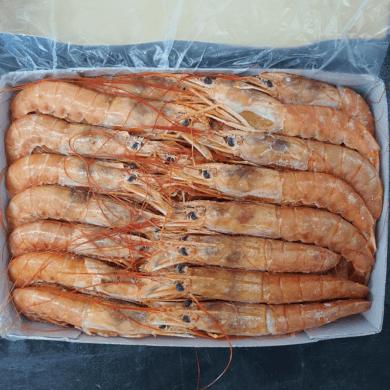 Crevettes Whole Cooked 1kg FROZEN