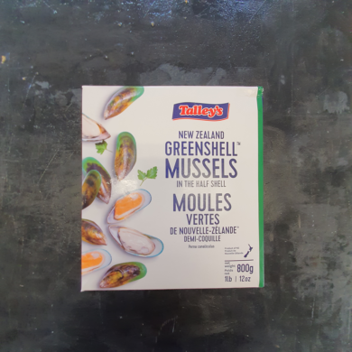 Mussel Half Shell Greenlip 800g FROZEN